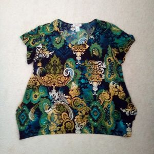 Floral pattern dress Barn shirt size 18/20